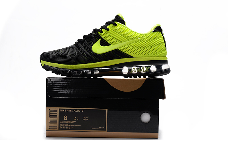 b274d2073ae Nike Air Max 2017 Kpu Black Green Men s Running Shoes 849560-314 ...