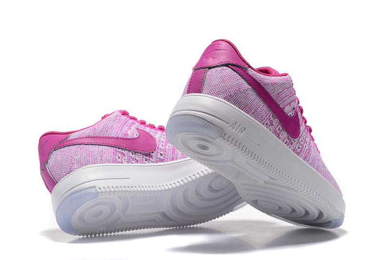 low priced 065a8 cd0f8 Nike Air Force 1 Ultra Flyknit Low Purple Pink White Women s Casual Shoes  Sneakers