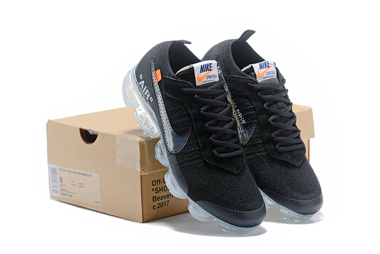137e3e3f4d2bd OFF-WHITE x Nike Air VaporMax Flyknit Black Total Orange Clear ...