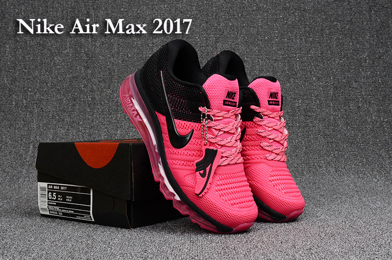 new arrival 8b1d5 aef54 Nike Air Max 2017 KPU Pink Black Women's Running Shoes 849560-008