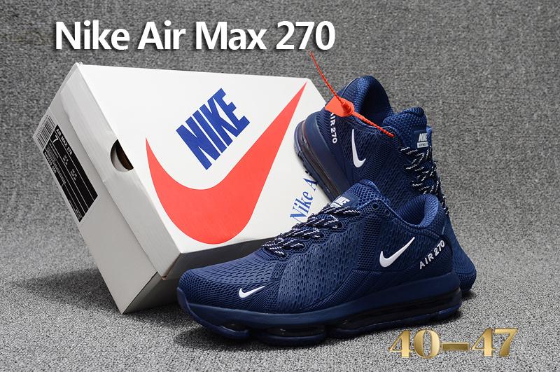 d18e538f536a Nike Air Max 270 Flair KPU Navy Blue White Men s Running Shoes NIKE ...