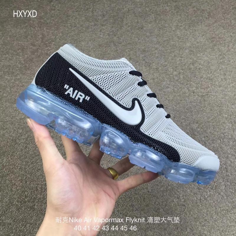 2ab59cd6d2e Nike Air Vapormax Flyknit Kpu Grey Black Men s Running Shoes NIKE ...