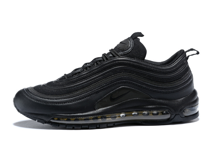 brand new dae8c ddb74 Nike Air Max 97 Premium SE Black Metallic Gold Men's Running Shoes  AA3985-001