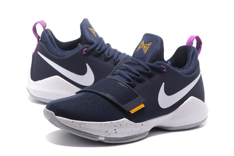 premium selection 335e7 451b6 Nike Air PG1 Paul George Ferocity Navy Blue The Bait Mens Basketball Shoes