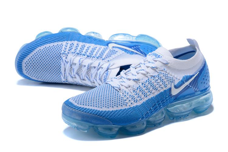 brand new 07899 bb5f2 Nike Air VaporMax Flyknit TPU Blue White Men's Running Shoes 781024-411
