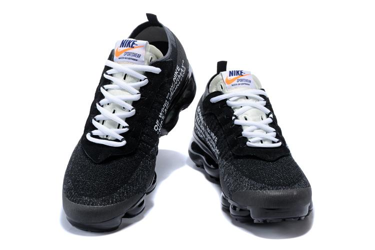 brand new b2a57 13c49 OFF-WHITE x Nike Air VaporMax Flyknit Black White AA3831 001 Women's Men's  Running Shoes AA3831-001