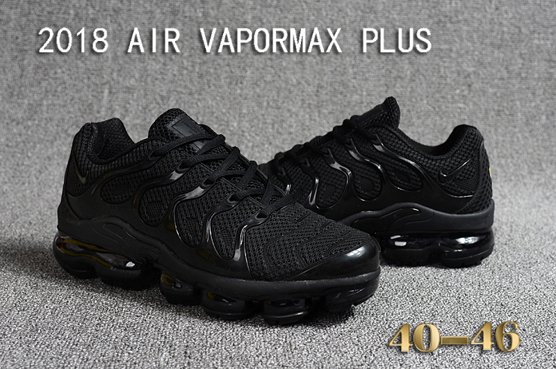 Nike Air Vapormax Plus KPU TN + 2018 Triple Black Men s Running Shoes b2459e374