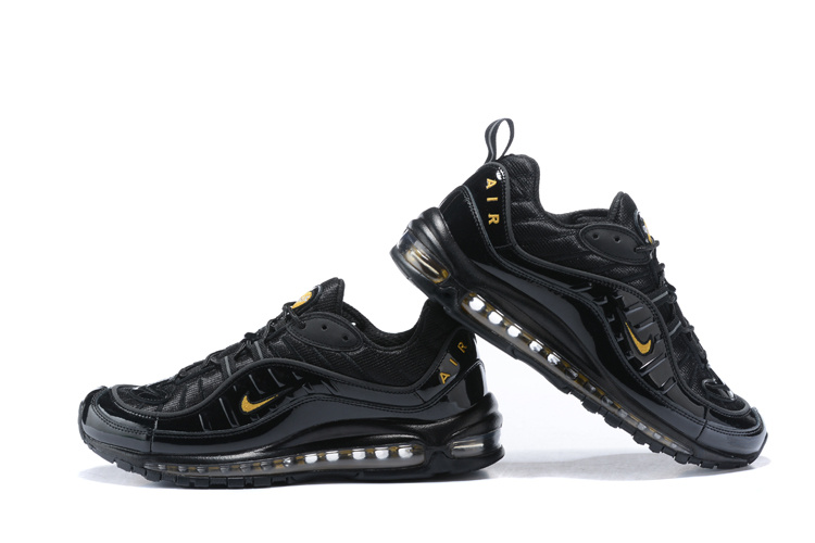 Nikelab Supreme x Air Max 98 Black Gold Men's Running Shoes NIKE ST000148
