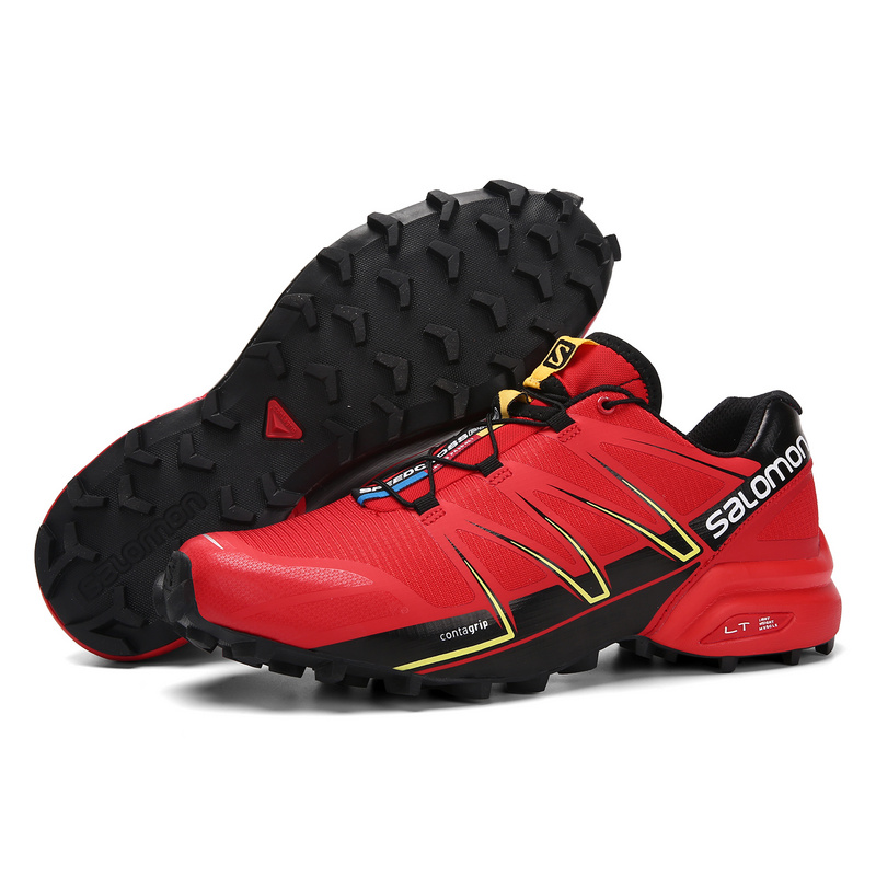 vente chaude en ligne ed7eb abca2 Salomon Speedcross Pro Radiant Red Black Gecko Green Men's Outdoor Trail  Running Shoes NIKE-ST002111
