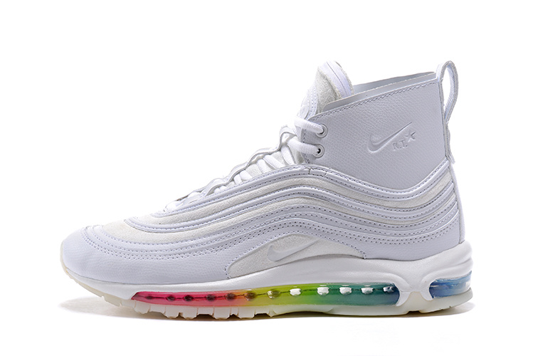 cc1ac51dcd Nike Air Max 97 Mid R. T. Triple White Multi-Color Men's Running Shoes