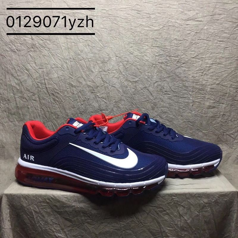 lowest price 98d3d fb525 Nike Air Max 2018 Kpu Navy Blue White Red Men's Running Shoes NIKE-ST000860