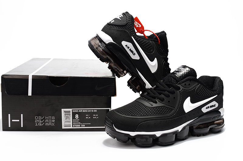 Off White x Nike Air Max 90 KPU Black White 875695 008 Men's Running Shoes Sneakers 875695 008