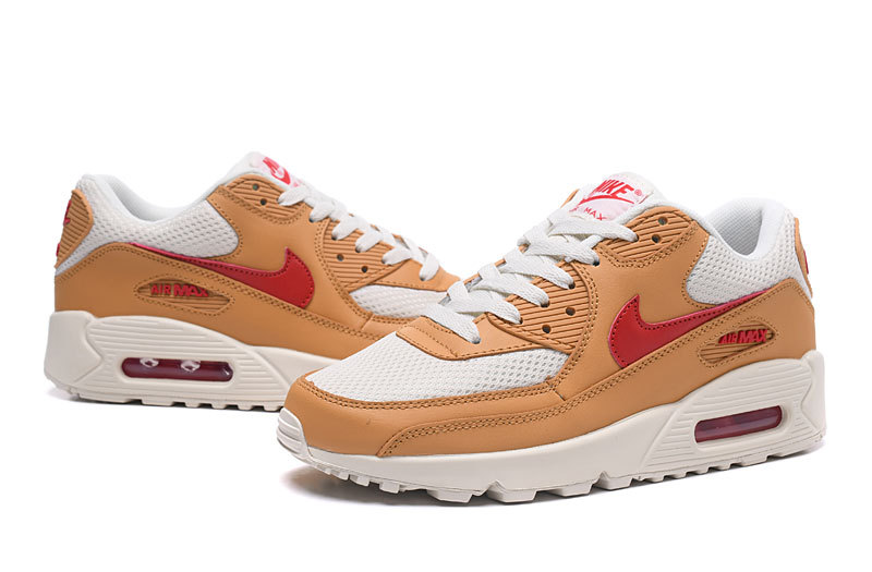 8af5c45ad5cb Nike Air Max 90 Brown Red Men s Women s Running Shoes Sneakers ...