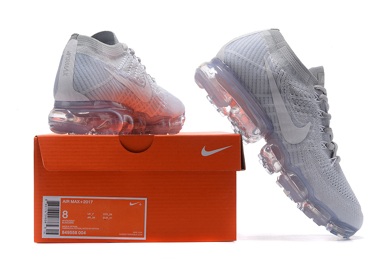 1db6843538321 Nike Air VaporMax Flyknit 2018 Pure Platinum White Wolf Grey Men s ...