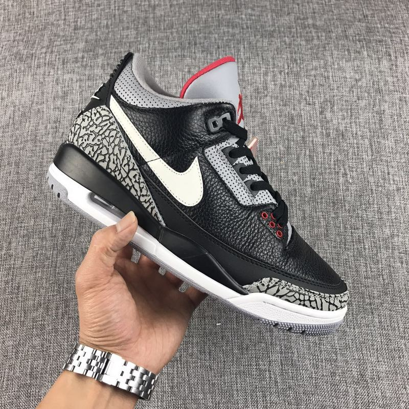hot sales 8ad0f e751b Nike Air Jordan 3 Retro JTH AJ3 Black White Mens Athletic Basketball Shoes  NIKE-ST000316