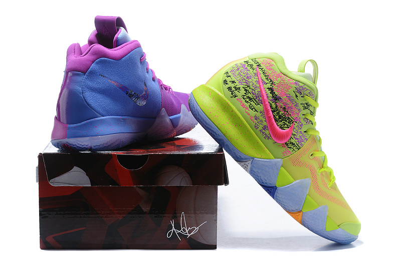 sports shoes 59443 08ca3 Nike Kyrie 4 Confetti Multi-Color Men's Basketball Shoes AJ1691-900