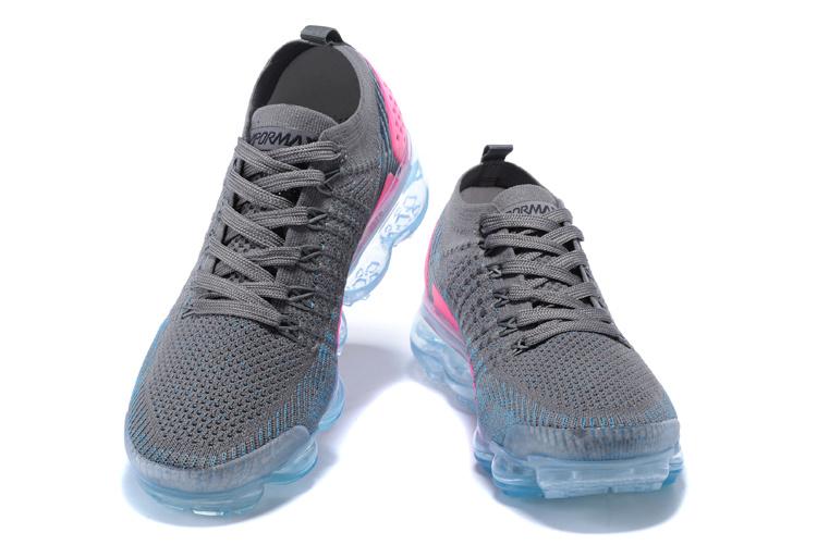 best service bb651 5b4d1 Nike Air VaporMax Flyknit TPU Grey Pink Women's Running Shoes 781024-024