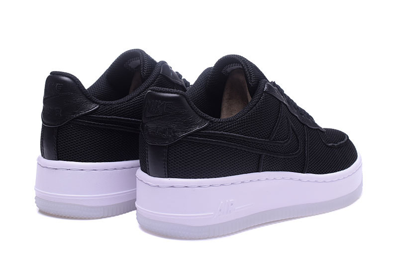 finest selection ca430 689f4 Nike Air Force 1 Low Upstep BR Black White Men's Women's Running Shoes  Sneakers 833123-003