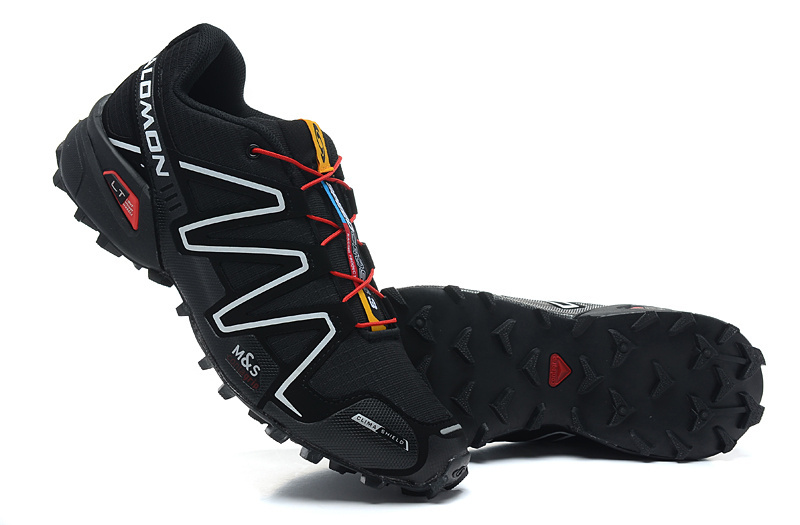 usine authentique 5528f 26d57 Salomon Speedcross 3 Black Red White Women's Athletic Trail Running Shoes  NIKE-ST000074