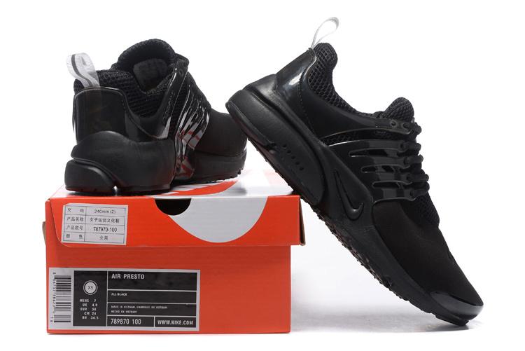 la meilleure attitude 863d1 050d4 Nike Air Presto Triple Black Men's Women's Running Shoes 787870-100