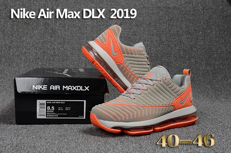 wholesale dealer 310af 294a6 Nike Air Max DLX 2019 Grey Orange Men's Running Shoes 849559--010