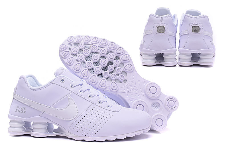 check out 92d06 8be78 Nike Shox Deliver Triple White ...