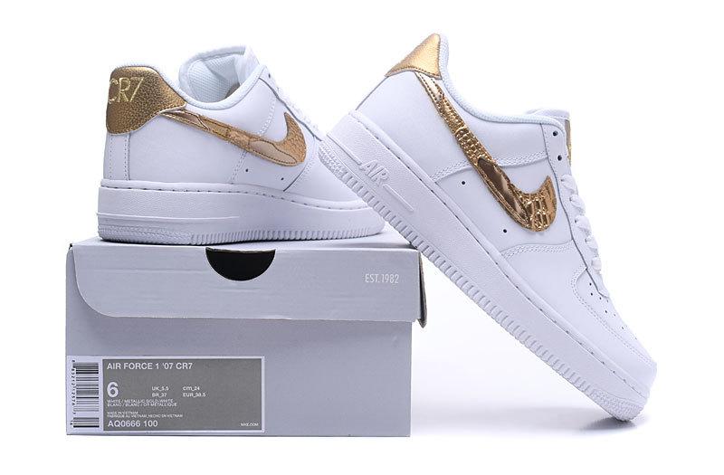 Nike Air Force 1 Low CR7 Golden Patchwork Men s Women s Running ... a6103327f2
