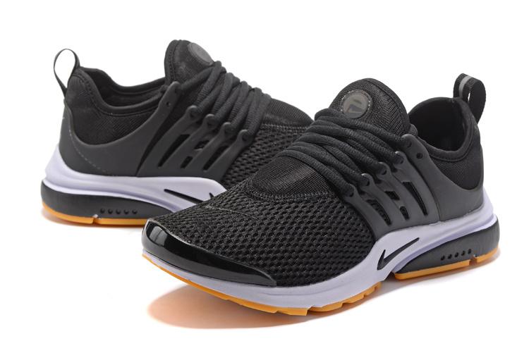 57253b716fe187 Nike Air Presto Cortez Black White Gum Yellow Men s Women s Running Shoes