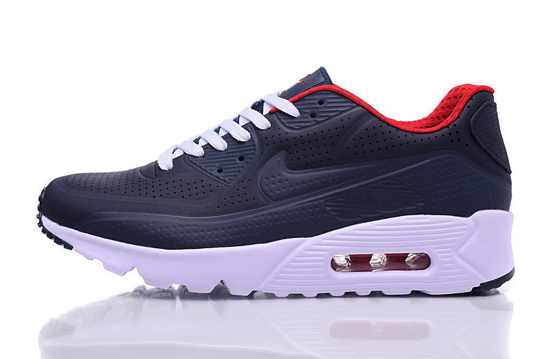 Nike Air Max 90 Ultra Moire Navy Blue Black Red White Men's Running Shoes Sneakers NIKE ST000250