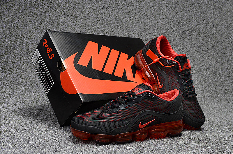 competitive price bc8e2 9a2f1 Nike Air VaporMax Flyknit 2018. 5 Kpu Black Red ...