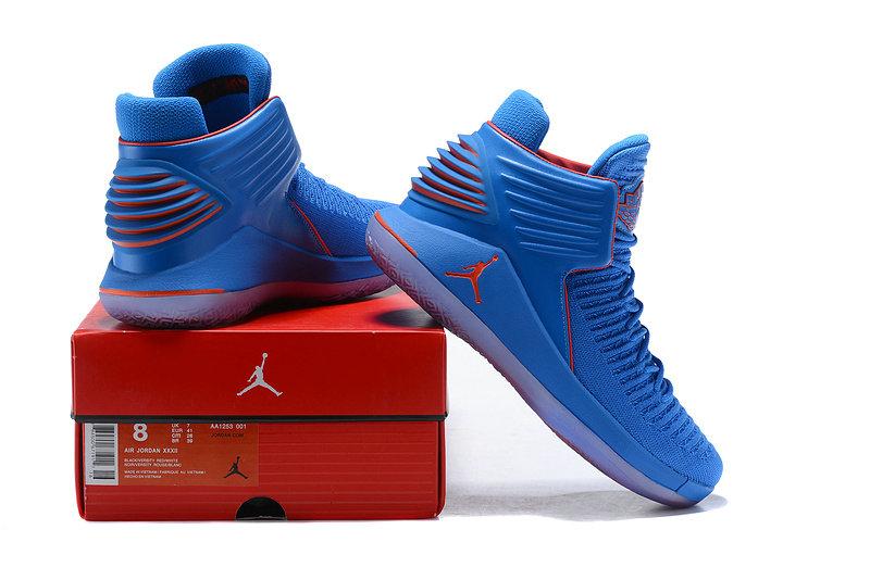 674134153ce Nike Air Jordan XXXII 32 Photo Blue Metallic Silver Team Orange ...