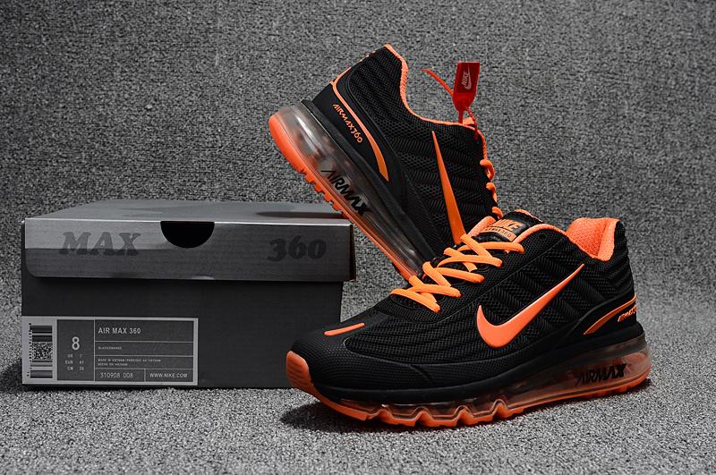san francisco dbdac cefcf Nike Air Max 360 Kpu Black Orange Men s ...