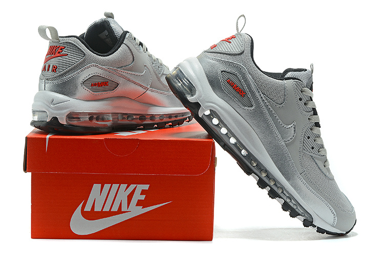 check out 29a1b 832c3 Nike Air Max 90 97 Light Grey Red Black ...