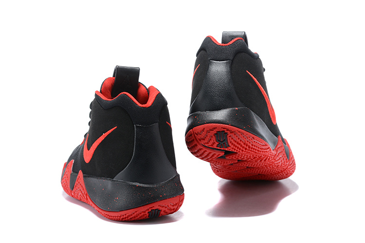 newest 0e016 f3a4b Nike Kyrie Irving 4 Black Red Men's Basketball Shoes NIKE-ST001592