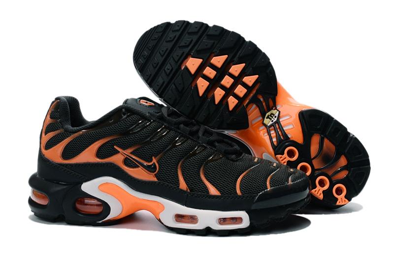 pretty nice c3e23 6a87d Nike Air Max Plus TN Black Orange Men's Running Shoes NIKE-ST000877