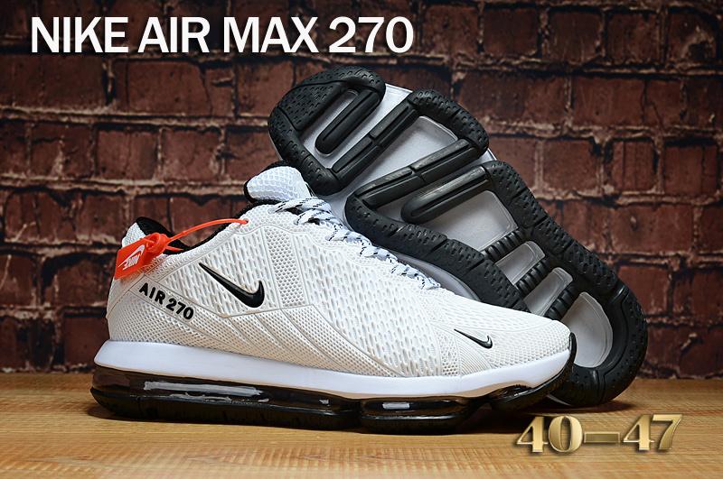 0101d6bb1e8 Nike Air Max 270 KPU White Black Men s Running Shoes NIKE-ST000309 ...
