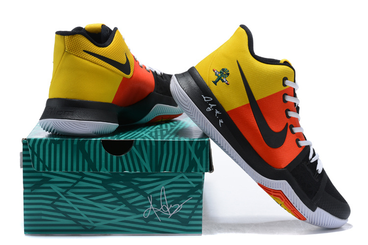competitive price 75cc5 beaea Nike Kyrie 3 III EP Irving Alien Yellow Red Black White Men's Basketball  Shoes NIKE-ST001490