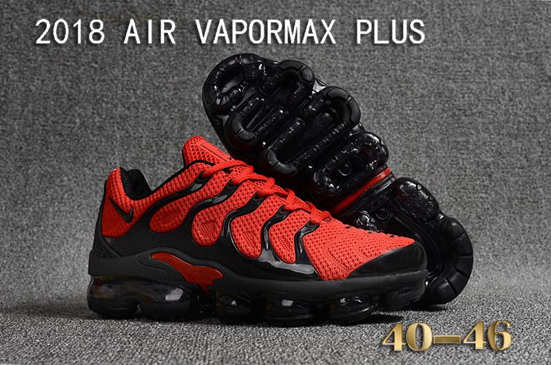 9b5cac7fe3d1 Nike Air Vapormax Plus KPU TN + 2018 October Red Black Men s Running ...