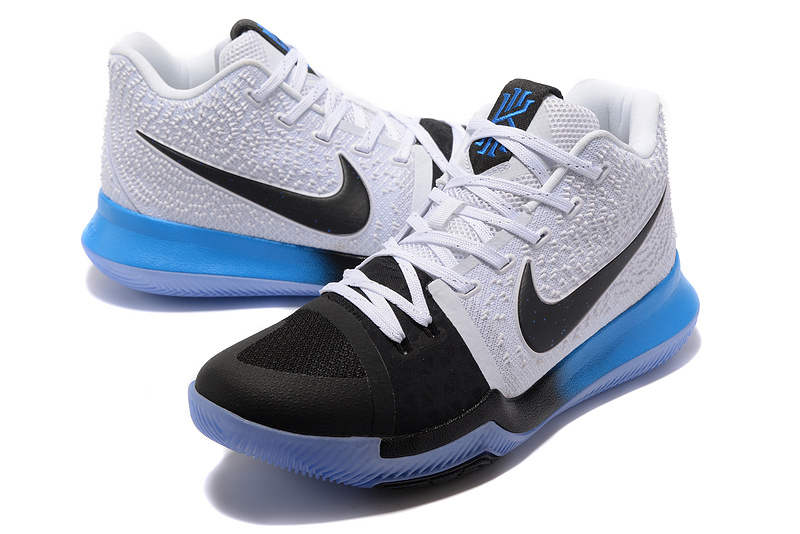 best loved 590a6 8d54d Nike Kyrie Irving 3 Black Blue Gradient White Men's Basketball Shoes  NIKE-ST001508
