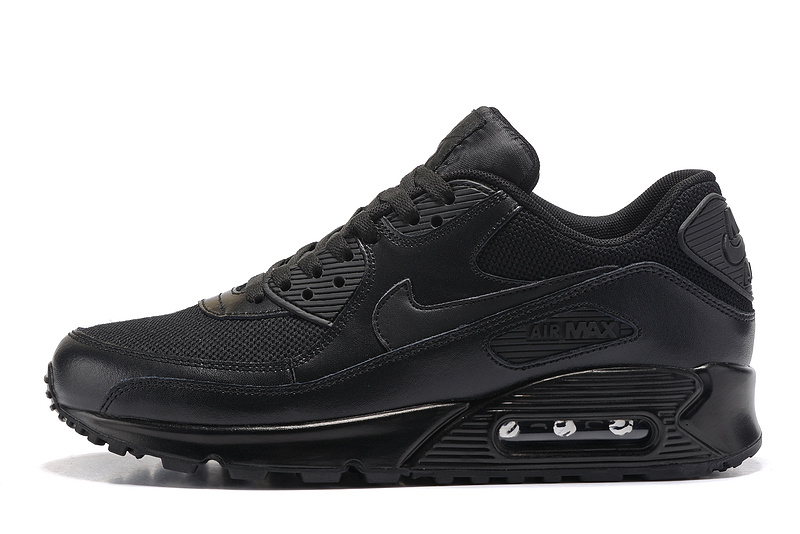 hot sales ec0e9 2454b Nike Air Max 90 Triple Black Men's Women's Running Shoes Sneakers 537384-001
