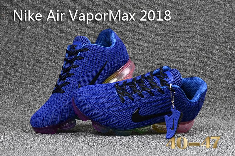 934a1a96111 Nike Air Vapor Max 2018 KPU Royal Blue Multi-Color Men s Running Shoes