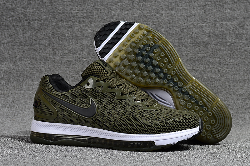 e01ba624ffc1e Nike Air Zoom Out Kpu Olive Green Black White Men s Running Shoes ...