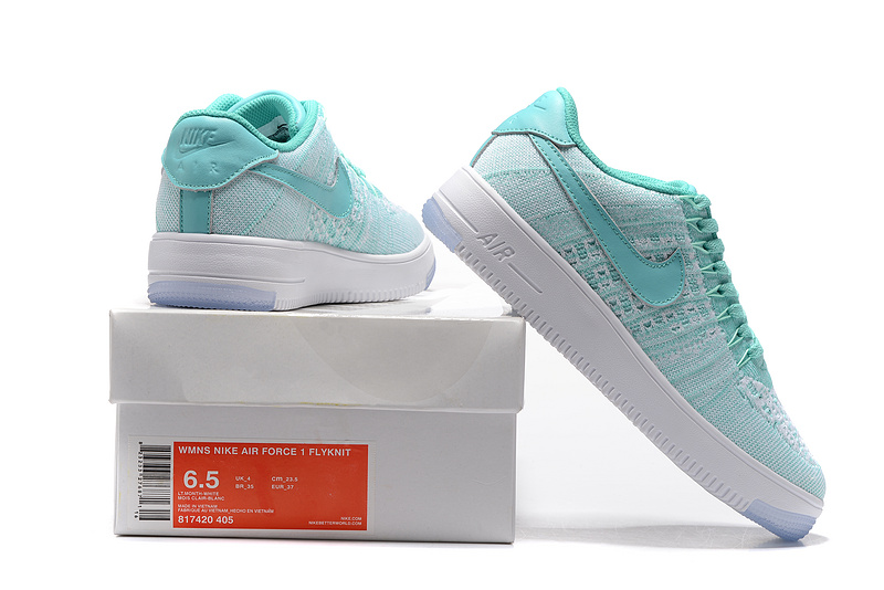 sneakers for cheap b66ea c4e99 Nike Air Force 1 Ultra Flyknit Low Bright Blue White Women's Casual Shoes  Sneakers 817420-405
