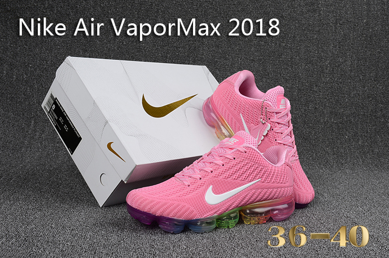 278cb365b0de4 Nike Air Vapor Max 2018 KPU Pink White Multi-Color Women s Running ...