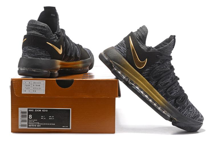 classic fit 1eaba 1429d Nike Zoom KD 10 EP Oreo Gold Men's Basketball Shoes 897816-001