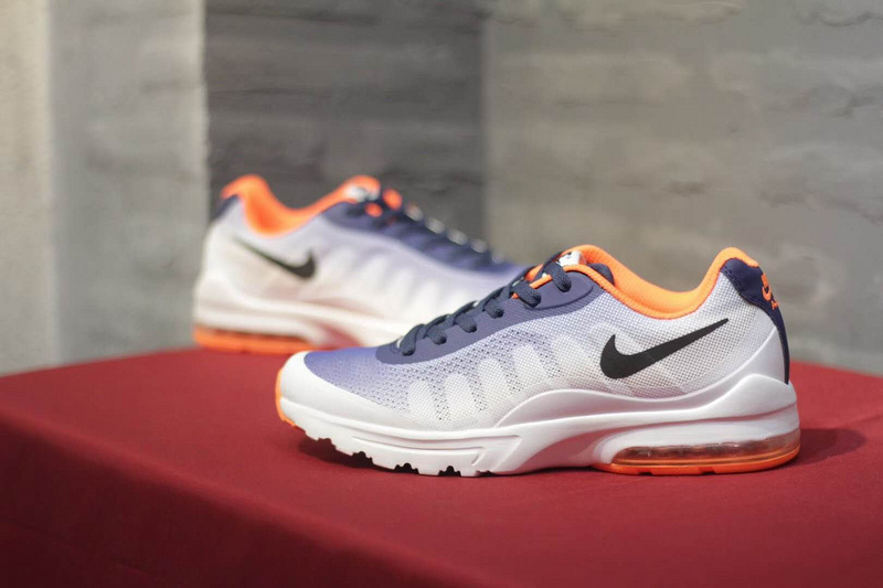 various colors a91bb e01a8 Nike Air Max Invigor Print 95 Navy Blue Orange White Black Brown Men s  Running Shoes NIKE-ST001985   WithTheSale.com