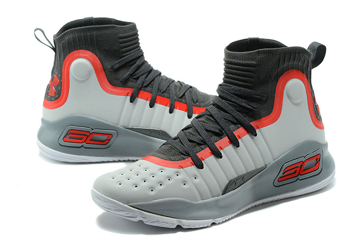 82226f4b0020 Under Armour Stephen Curry 4 Gray Black Red Men s Basketball Shoes ...