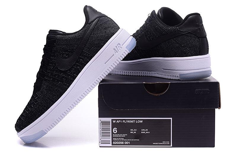 size 40 8209b d695b Nike Wmns Air Force 1 Flyknit Low Black White Women's Men's Casual Shoes  Sneakers 820256-001