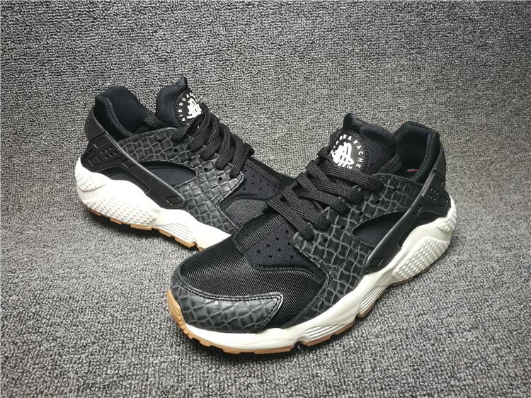 27038cab7aedb Nike Air Huarache Black Sail Gum Medium Brown Men s Women s Casual Shoes