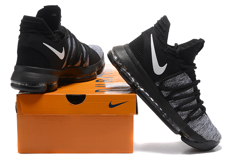 info for e3796 6eadb Nike KD 10 Kevin Durant Oreo Black White Men's Basketball Shoes  NIKE-ST001456